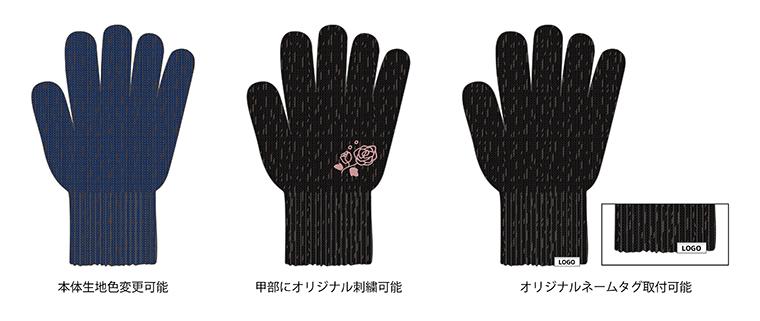 銅イオン抗菌手袋デザインサンプル