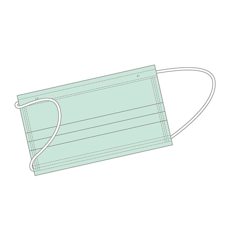 不織布カラーマスクデザイン例